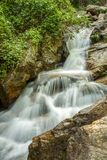 The long exposure image of a beautiful waterfall Stock Images