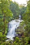 The long exposure image of a beautiful waterfall Stock Photo
