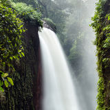 The long exposure image of a beautiful waterfall Stock Photography