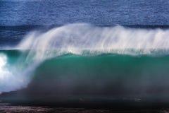 Long Exposure Image of Blue Ocean Big Mavericks Wave, California. Long Exposure Image of Blue Ocean Big Mavericks Wave in California, USA Stock Photo