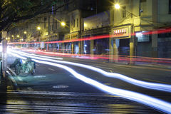 Long exposure image of cars rushing Stock Image
