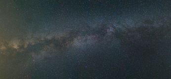 Long exposure image of Milky Way in night sky Royalty Free Stock Images