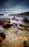 Misty sea and rocks. Long exposure image of the ocean Royalty Free Stock Photography