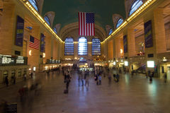 Long exposure inside Grand Central Station, midtown Manhattan Stock Photography