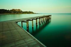 Long exposure of the jetty Stock Photo