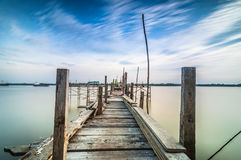 Long exposure at jetty. This jetty during before sunset mainly use for fishing at transportation stock images