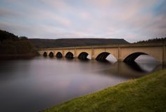 Long exposure at Ladybower Reservoir stock image
