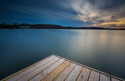 Long exposure lake Stock Photography