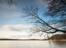 Long exposure lake Stock Image