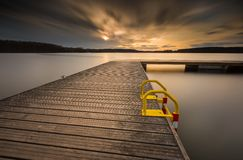 Long exposure lake Royalty Free Stock Image