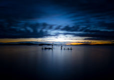 Long Exposure Lake Champlain Royalty Free Stock Photo