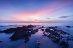 Long exposure landscape on the sea. Royalty Free Stock Photo
