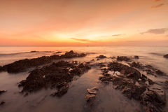 Long exposure landscape on the sea. Stock Images