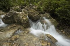 Long exposure landscape with water cascade Stock Images