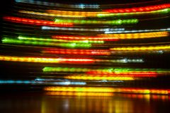 Long exposure light background. Glowing lights in motion stock photos