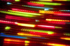 Long exposure light background. Glowing lights in motion. Selective focus royalty free stock images