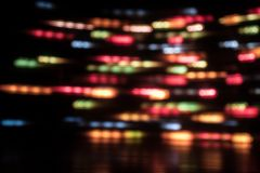 Long exposure light background. Glowing lights in motion. Selective focus royalty free stock photos