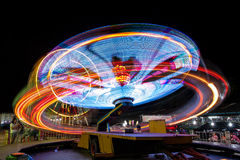 Long exposure light at fun park. Long exposure light of plaything at fun park Royalty Free Stock Photography