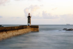Long exposure of light house in twilight Royalty Free Stock Photography