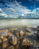 Long exposure Lighthouse on a bright day Royalty Free Stock Photography