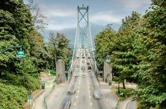 Lions Gate Bridge, Vancouver stock photos