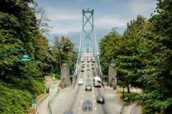 Lions Gate Bridge, Vancouver royalty free stock image