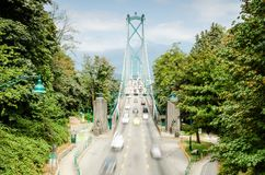 Lions Gate Bridge, Vancouver royalty free stock images
