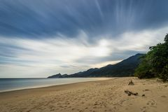 Free Long Exposure Lopes Mendes Beach In Ilha Grande South Of Rio De Stock Images - 104712284