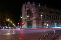 Long exposure in Madrid. At night with little editing Stock Image