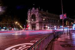 Long exposure in Madrid Stock Photography