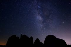 Long Exposure of the Milky Way Galaxy Royalty Free Stock Photography