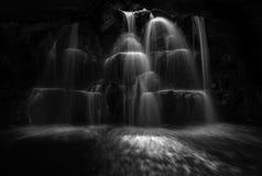Monochrome waterfall cascade Agadir Morocco royalty free stock photos