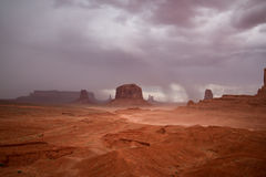 Long exposure in Monument Valley Navajo Park Stock Image