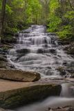 Minnehaha Falls, Rabun County, Georgia royalty free stock photos