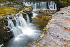 Long exposure with motion blur view of Sgwd Y Bedol waterfall on Stock Image