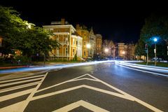 Long Exposure at night of Logan Circle in Downtown DC Stock Photography