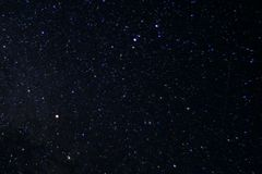 Long exposure night photo. A lot of stars with constellations. Far from the city. Night wonderful landscape stock images