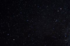 Long exposure night photo. A lot of stars with constellations. Far from the city. Night wonderful landscape stock photo