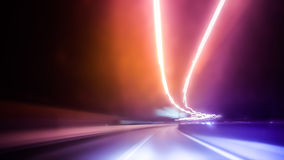 Long exposure night traffic. Abstract image of Long exposure night traffic light in the city Royalty Free Stock Image
