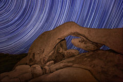 Long Exposure over the Rocks of Joshua Tree Park Royalty Free Stock Images