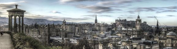 Panorama of the Edinburgh Skyline royalty free stock images