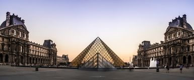 Louvre Museum Pyramid royalty free stock image