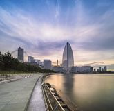 Long exposure panorama of the Pacifico Yokohama National Convent Royalty Free Stock Image