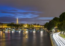 Long exposure of Paris from Pont Neuf Royalty Free Stock Photo