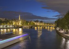 Long exposure of Paris from Pont Neuf Royalty Free Stock Photography