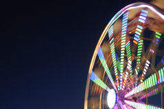 Long exposure photo of a ferris wheel. Stock Images