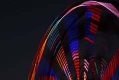 Long exposure photo of a ferris wheel. Royalty Free Stock Photography
