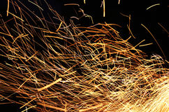 Long exposure photo of fire Stock Images