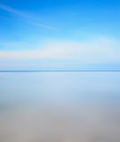 Long exposure photo. Horizon line, sea and sky stock image