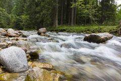 Long Exposure Photo Of A Mountain river Royalty Free Stock Photo